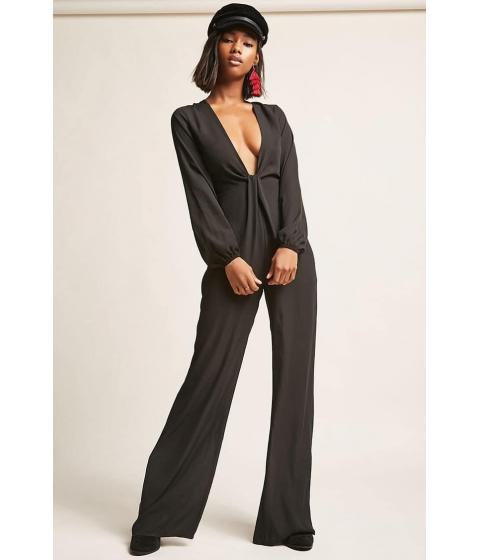 Imbracaminte Femei Forever21 Chiffon Wide-Leg Jumpsuit BLACK