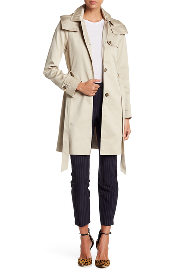 Imbracaminte Femei Soia Kyo Hooded Trench Coat With Belt TAN