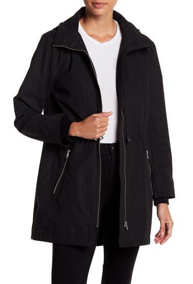 Imbracaminte Femei Soia Kyo Cinch Hooded Rain Resistant Anorak BLACK