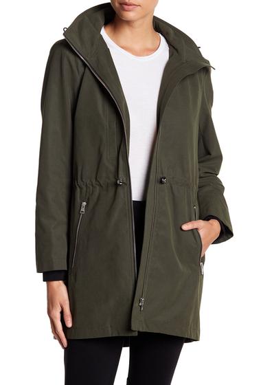 Imbracaminte Femei Soia Kyo Cinch Hooded Rain Resistant Anorak MILITARY