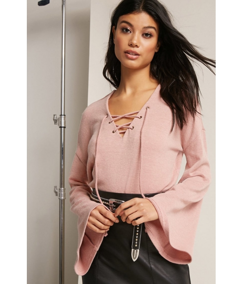Imbracaminte Femei Forever21 Brushed Sweater-Knit Top MAUVE