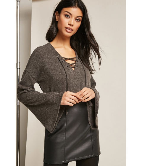 Imbracaminte Femei Forever21 Brushed Sweater-Knit Top CHARCOAL