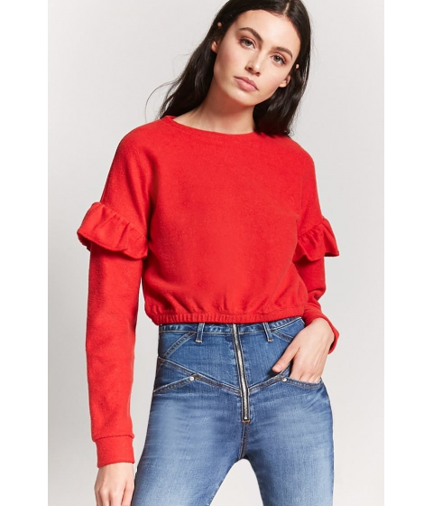 Imbracaminte Femei Forever21 Knit Ruffle Top RED