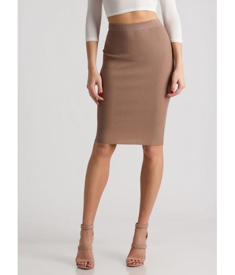 Imbracaminte Femei CheapChic Business Or Pleasure Ribbed Pencil Skirt Khaki