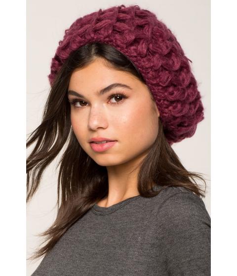 Accesorii Femei CheapChic Hand Knit Cozy Crochet Beret WineBurgundy
