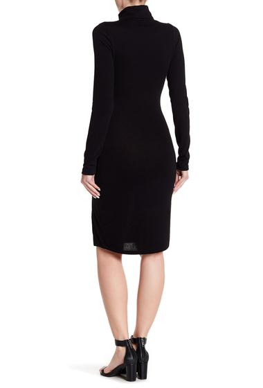 Imbracaminte Femei Go Couture Long Sleeve Slit Turtleneck Dress BLACK