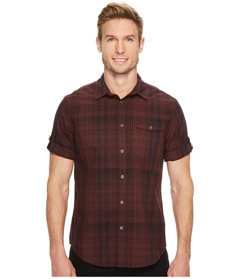 Imbracaminte Barbati Calvin Klein Short Sleeve Plaid Button Down Shirt Burgundy