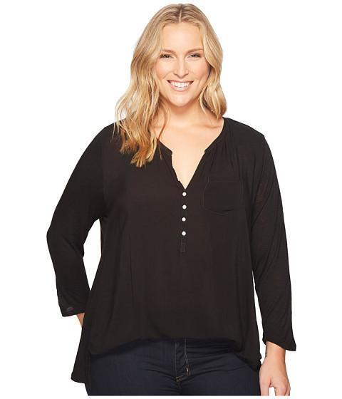 Imbracaminte Femei Lucky Brand Plus Size Woven Mixed Top Lucky Black