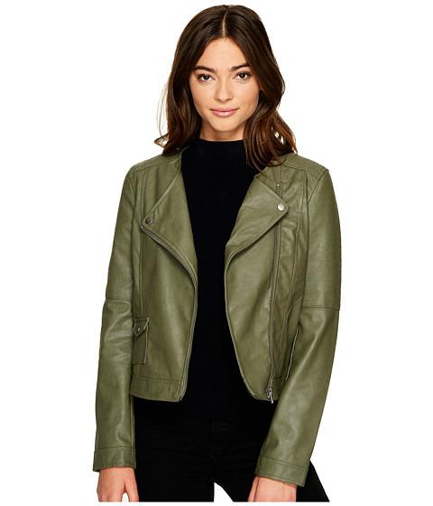 Imbracaminte Femei BB Dakota Louis Drapey Soft PU Cropped Jacket Light Olive