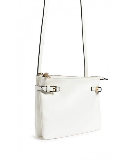 Genti Femei Forever21 Faux Leather Crossbody Bag WHITE