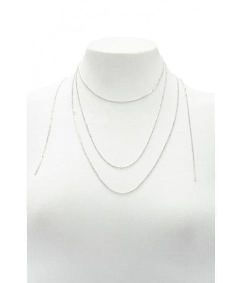 Bijuterii Femei Forever21 Box Chain Wrap Necklace SILVERCLEAR