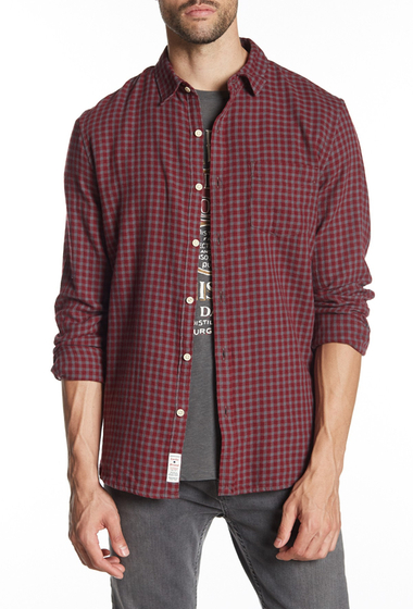 Imbracaminte Barbati Lucky Brand Ballona Patch Pocket Classic Fit Plaid Shirt BURG-GREY