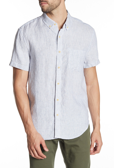 Imbracaminte Barbati Lucky Brand Linen Slim Fit Short Sleeve Button Up Shirt MULTI STRIPE