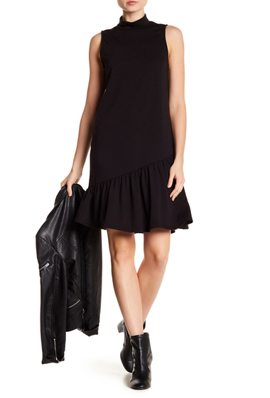 Imbracaminte Femei Abound Asymmetrical Ruffle Hem Shift Dress BLACK