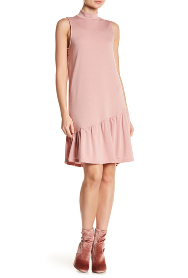 Imbracaminte Femei Abound Asymmetrical Ruffle Hem Shift Dress PINK ADOBE
