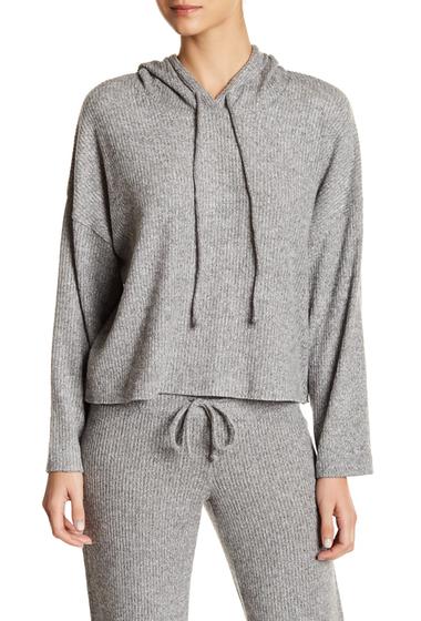 Imbracaminte Femei Free Press Rib Knit Hooded Pullover HEATHER GREY