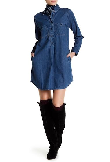 Imbracaminte Femei Madewell Long Sleeve Denim Shirt Dress IAN WASH