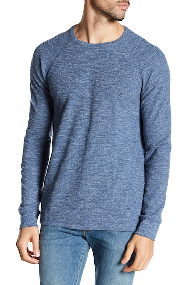 Imbracaminte Barbati Lucky Brand Ringer Thermal Long Sleeve Sweater HEATHER BLUE