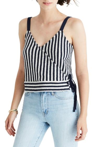 Imbracaminte Femei Madewell Finale Stripe Wrap Tank DEEP NAVY