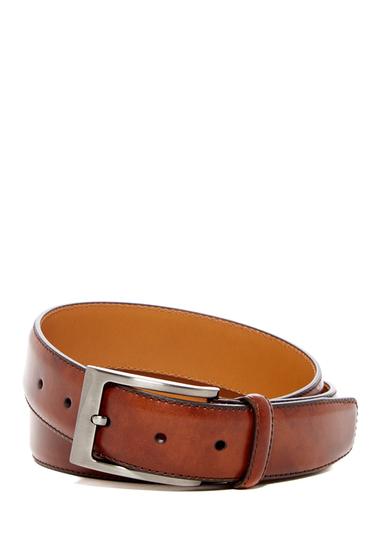 Accesorii Barbati Magnanni Square Buckle Leather Belt COGNAC