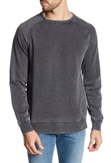 Imbracaminte Barbati Lucky Brand Washed Crew Neck Fleece Pullover BLACK MOUNTAIN