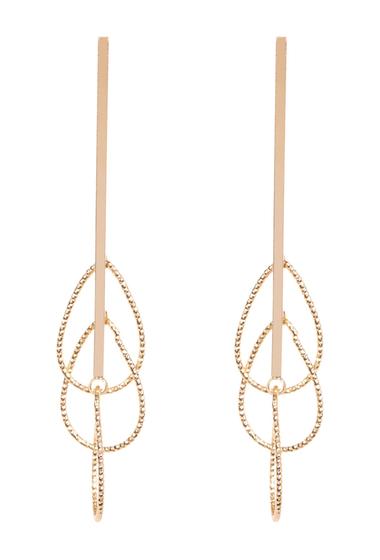 Bijuterii Femei Argento Vivo 18K Gold Plated Triple Oval Drop Earrings GOLD
