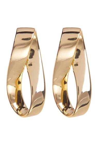 Bijuterii Femei Argento Vivo 18K Gold Plated Twisted Hoop Earrings GOLD