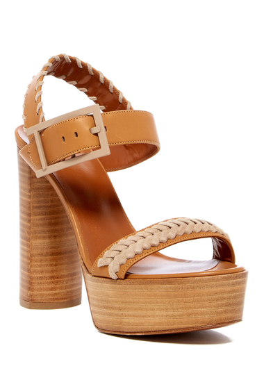 Incaltaminte Femei Aquatalia Isabella Platform Wedge Sandal TAN-SAND