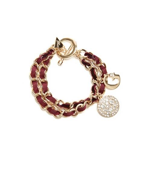 Bijuterii Femei GUESS Velvet Woven Bracelet gold