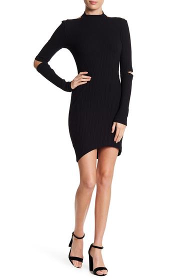 Imbracaminte Femei Lush Mock Neck Midi Bodycon Dress BLACK