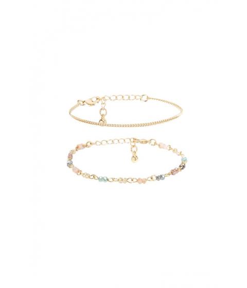 Bijuterii Femei Forever21 Beaded Bracelet Set GOLDMULTI