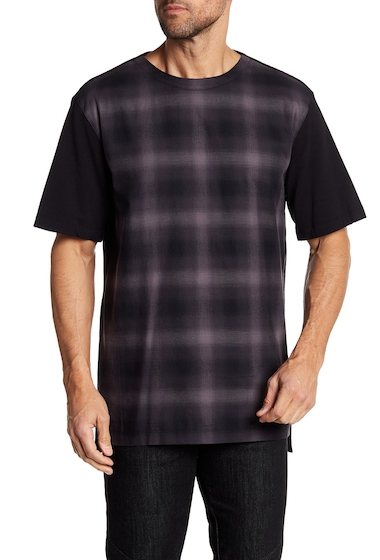 Imbracaminte Barbati Helmut Lang Combo Partial Plaid Tee RABBIT MULTI