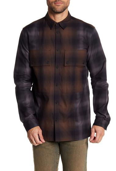 Imbracaminte Barbati Helmut Lang Combo Plaid Shirt BROWN MULTI