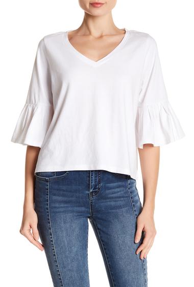 Imbracaminte Femei Abound Ruffle Sleeve V-Neck Tee WHITE