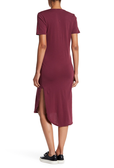 Imbracaminte Femei C C California Cara V-Neck T-Shirt Dress PINOT NIOR