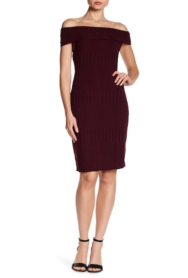 Imbracaminte Femei BCBG MAXAZRIA Off-the-Shoulder Fitted Dress VNETNROSE