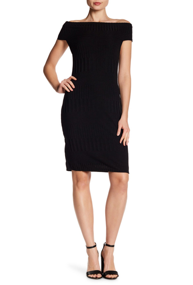 Imbracaminte Femei BCBG MAXAZRIA Off-the-Shoulder Fitted Dress BLACK