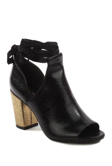 Incaltaminte Femei BC Footwear Set Me Free II Open Toe Boot BLACK EXOTIC-GOLD EXOTIC