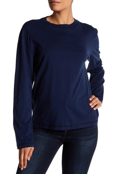 Imbracaminte Femei Allen Allen Long Sleeve Crew Neck Shirt LAPIS