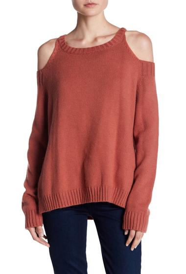 Imbracaminte Femei ELAN Cold Shoulder Sweater AUBURN