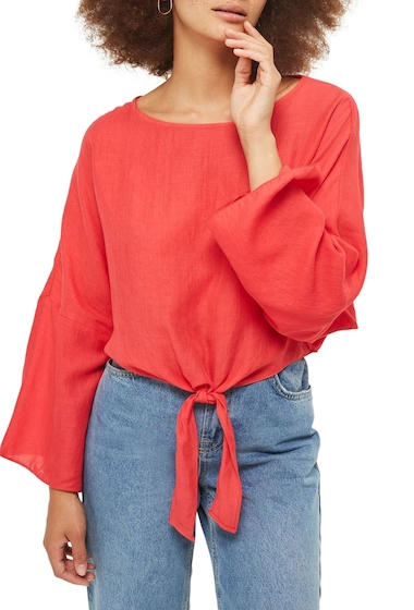 Imbracaminte Femei TOPSHOP Knot Front Top RED