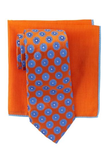 Accesorii Barbati Ted Baker London Circle Medallion Silk Tie Pocket Square Set ORANGEBLU