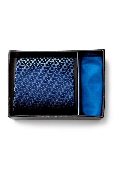 Accesorii Barbati Ted Baker London Links Silk Tie Pocket Square Set NAVYBLUE