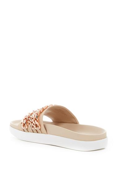 Incaltaminte Femei Kendall Kylie Shiloh Chain Leather Slide Sandal IVMLE