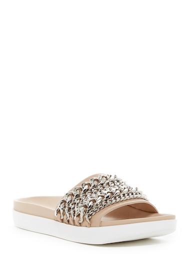 Incaltaminte Femei Kendall Kylie Shiloh Chain Leather Slide Sandal LNALE