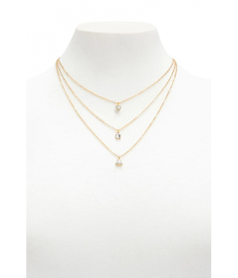 Bijuterii Femei Forever21 Layered Geo Charm Necklace GOLDCLEAR