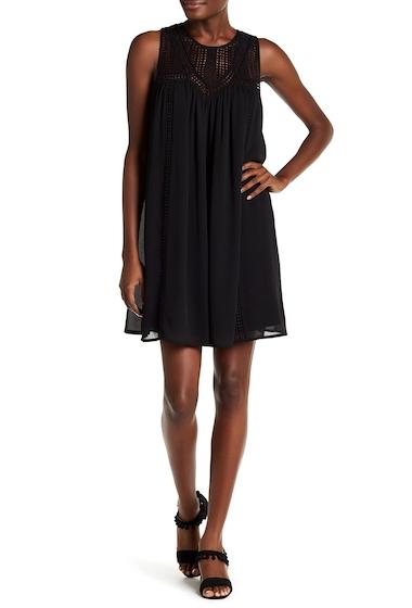 Imbracaminte Femei 14th Union Crochet Sleeveless Swing Dress BLACK