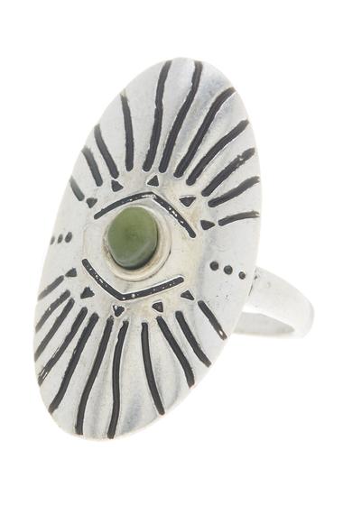 Bijuterii Femei Madewell Etched Shield Ring - Size 7 LIGHT SILVER OX