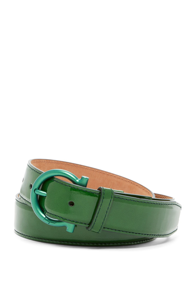 Accesorii Barbati Salvatore Ferragamo Patent Leather Belt GREEN