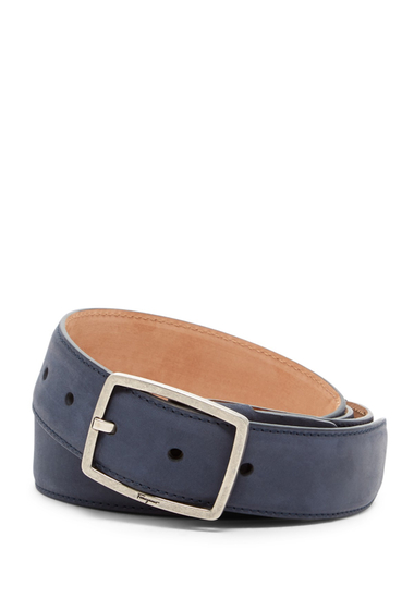 Accesorii Barbati Salvatore Ferragamo Nubuck Leather Belt ROYAL